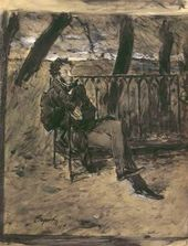 Alexander Pushkin Sitting on a Park Bench.