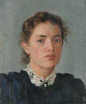 Portrait of Nadezhda von Derviz. 1888