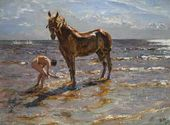 Bathing a Horse. 1905