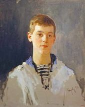 Portrait of Grand Duke Mikhail Alexandrovich as a Child. 1893. Unfinished