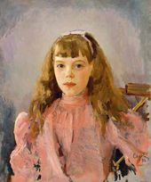 Portrait of Grand Duchess Olga Alexandrovna as a Child. 1893
