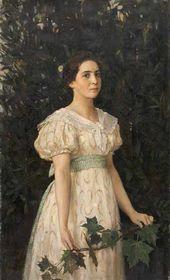 Viktor Vasnetsov. Portrait of Vera Mamontova. 1896