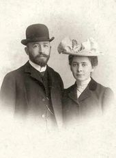 Alexander Samarin, Vera Mamontova. Rome, November 1902