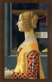 Domenico Ghirlandaio. Portrait of Giovanna Tornabuoni. 1489-1490