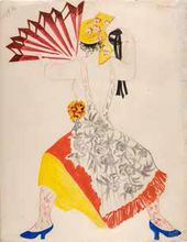 Natalia Goncharova. Spanish Woman with a Fan. 1916