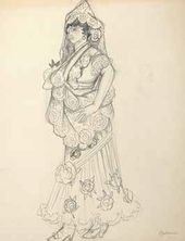 A Spanish Woman. Costume sketch. 1910–1920-е