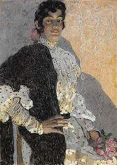 Alexander Golovin. A Spanish Woman in a Black Shawl. 1908