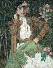 Alexander Golovin. A Spanish Woman in Green. 1906–1907