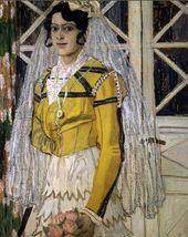 ALEXANDER GOLOVIN. A Spanish Woman. 1906–1907