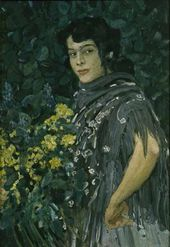 Alexander Golovin. A Spanish Woman with a Bunch of Yellow Flowers. 1906–1907