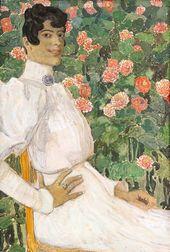 ALEXANDER GOLOVIN. A Spanish Woman in White. 1906–1907