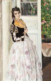 Alexander Golovin. A Spanish Woman on a Balcony. 1911