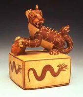 Vessel with a mythic feline. Ceramics of the Moche culture, Peru. c. 100-750. © Ministerio de Educación, Cultura y Deporte, España