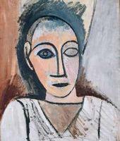 """Buste d'homme (Study for """"Les Demoiselles d'Avignon""""). 1907"""