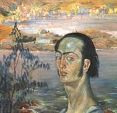 Self-portrait with Raphaelesque Neck. c. 1921