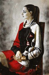 Portrait of Varvara in a Picasso Dress. 2005