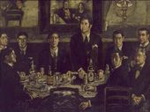 José Gutiérrez Solana. The Gathering at the Café de Pombo. 1920. © José Gutiérrez Sola, VEGAP, Madrid, 2015