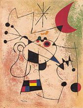 Joan Miró. The Lightning Bird Blinded by Moonfire. 1955. © Succession Miró 2015
