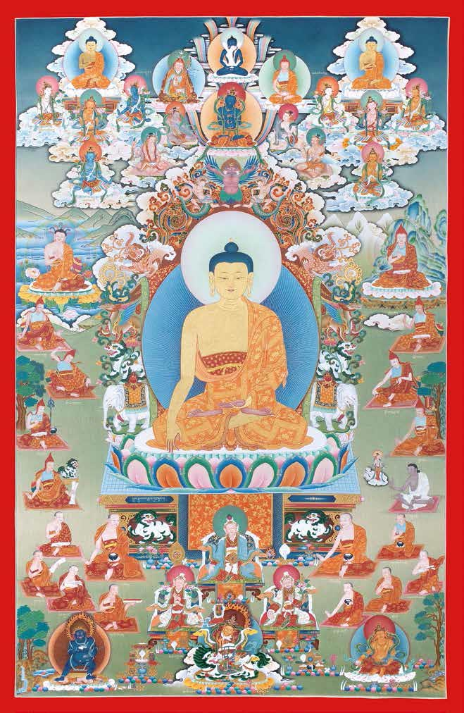Rime Thangka Series. Buddha Shakyamuni. Commissioned by Orgyen Tobgyal Rinpoche. c. 2005