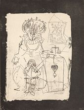 Мари-Лор де Ноай. Иллюстрация к изданию Жан-Франсуа де Буасьер. Трактат о балете. 1953