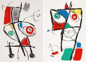 Joan Miró. Illustrations to Adrian de Monluc's Le Courtisan Grotesque. 1974