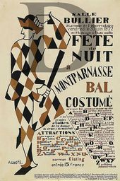 André Lhote. Poster for the Fête de Nuit ball. 1922