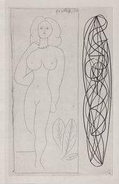 Pablo Picasso. lllustration to Iliazd's Escrito. 1948