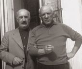 Iliazd and Pablo Picasso. Villa California, Cannes, c. 1955