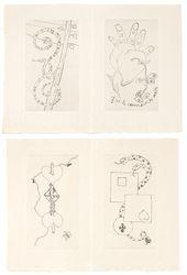 Georges Ribemont-Dessaignes. Illustrations to Iliazd's Boustrophedon au Miroir. 1971