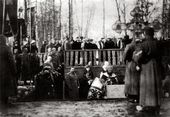 Laying of the foundation stone ceremony for the Church of St. Alexius in Tsarskoye Selo. March 11 1914
