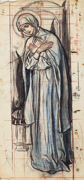 The Virgin Mary (from 'The Annunciation'). Early 1900s