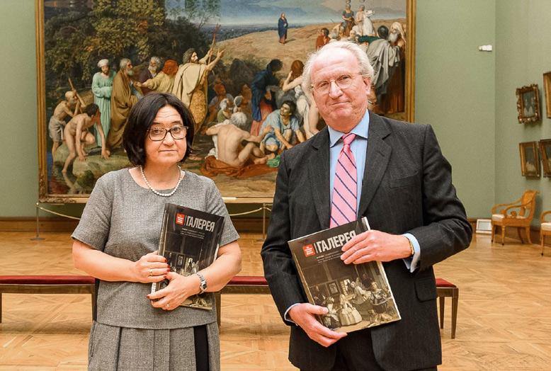 Director of the Tretyakov Gallery Zelfira Tregulova and His Excellency the Ambassador of Spain Jose Ignacio Carbajal
