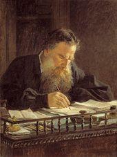 Nikolai Ge. Portrait of Leo Tolstoy. 1884
