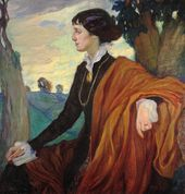 Olga Della-Vos-Kardovskaya. Portrait of Anna Akhmatova. 1914
