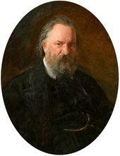 Nikolai Ge. Portrait of Alexander Herzen. 1867