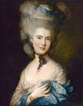 Thomas Gainsborough. Portrait of a Lady in Blue. c. 1780