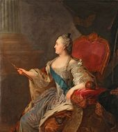 Fyodor Rokotov. Portrait of Catherine II. 1763