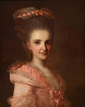 Fyodor Rokotov. Portrait of a Woman in a Pink Dress. 1770s