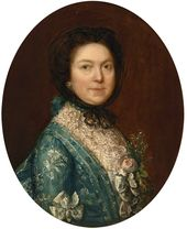 THOMAS GAINSBOROUGH. Portrait of Lady Alston (Gertrude Alston, née Durnford). c. 1767