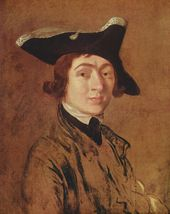 Thomas Gainsborough. Self-portrait. 1754