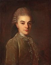 Fyodor Rokotov. Portrait of Alexander Rimsky-Korsakov as a Young Man. Late 1760s
