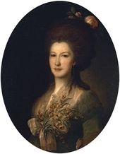Fyodor Rokotov. Portrait of Countess Yelizaveta Santi. 1785