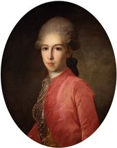 Fyodor Rokotov. Portrait of Prince Ivan Bariatinsky. Early 1780s