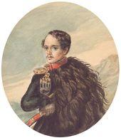 Mikhail Lermontov. Self-portrait. 1837–1838
