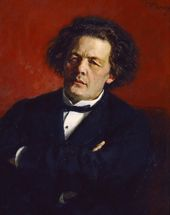 Ilya REPIN. Portrait of the Composer Anton Rubinstein. 1881