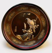 A Japanese multi-metal dish. Meiji period, c. 1880