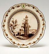 "Side plate. Item from the ""Green Frog"" Service. England. Wedgwood. 1773–1774. © Государственный Эрмитаж, Санкт-Петербург, 2014"