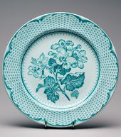 "Plate with the ""Geranium"" pattern"