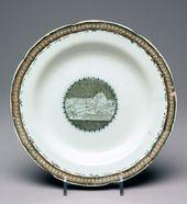 "Plate ""Transportation of the Thunder Stone in the Presence of Catherine the Second"""