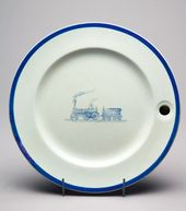 Warming Plate Showing a Steam Engine and Coal Wagon